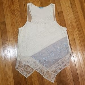 Anthropologie Leifnotes lace tank top